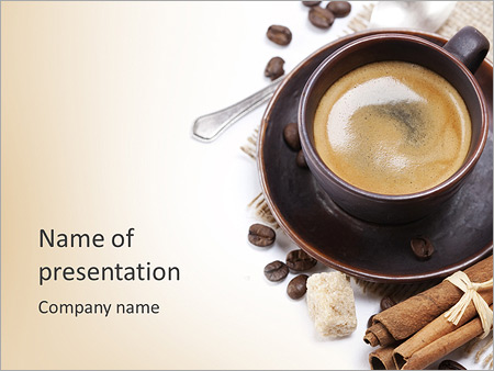 Coffee powerpoint template coffee drinker exclusive coffee powerpoint template backgrounds id 0000004215 toneelgroepblik Choice Image