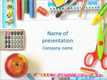 Scuola elementare I pattern delle presentazioni del PowerPoint