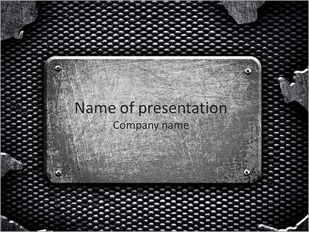 Metal nameplate powerpoint template backgrounds id 0000004234 metal nameplate powerpoint template toneelgroepblik Choice Image