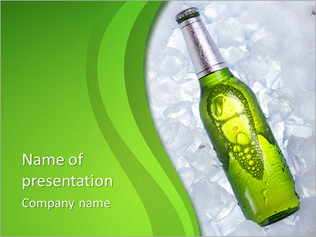 Bottle Template | Bottle Of Beer Powerpoint Template Backgrounds Google Slides Id