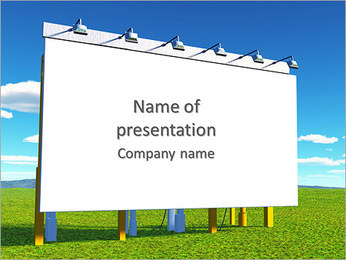 Big Board Along The Road PowerPoint Template