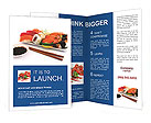 Japanese Traditional Sushi Brochure Templates