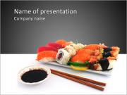 Japanese Traditional Sushi PowerPoint Templates