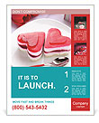 Heart Cake Poster Template