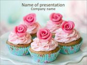 Rose Cupcake PowerPoint Templates