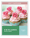 Rose Cupcake Word Templates