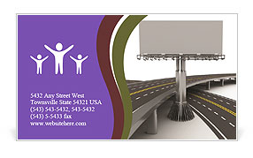 Highway Billboard Business Card Templates