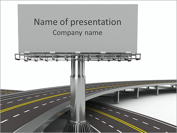 Highway Billboard Sjablonen PowerPoint presentatie