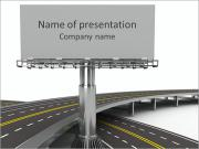 Highway Billboard Sjablonen PowerPoint presentaties