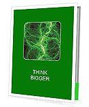 Green Abstract Lighting Effect Presentation Folder