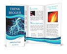 Blue Lighting Effect Brochure Templates