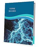 Blue Lighting Effect Presentation Folder