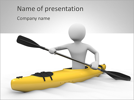 canoe powerpoint template backgrounds id 0000004284