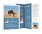 Cowboy Brochure Templates