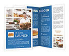 Man With Bread Brochure Templates
