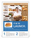 Man With Bread Flyer Template