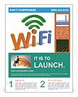 WiFi Sybol Flyer Templates