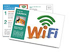 WiFi Sybol Postcard Templates