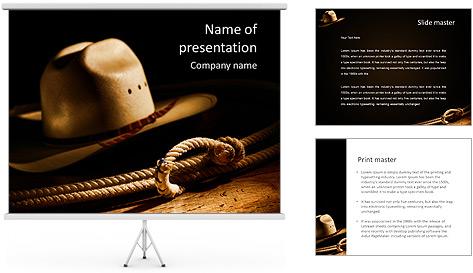 Chapeau Et Lasso Modèles des présentations  PowerPoint