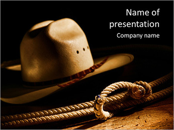Hat And Lasso PowerPoint Template