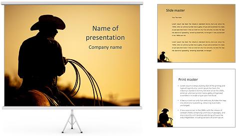 Tour de cowboy Modèles des présentations  PowerPoint