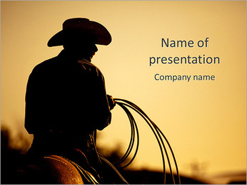 Cowboy Ride PowerPoint Template