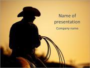 Cowboy Ride Modèles des présentations  PowerPoint
