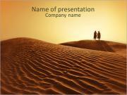 砂漠 PowerPointプレゼンテーションのテンプレート