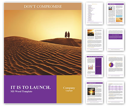 desert word template amp design id 0000004299