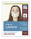 Closed Mouth Poster Template