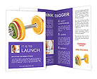 Barbell Made Of Fruits Brochure Templates