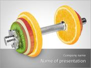 Langhantel Made Of Fruits PowerPoint-Vorlagen