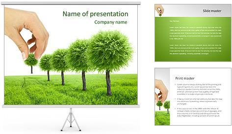 Plantation d'arbres Modèles des présentations  PowerPoint