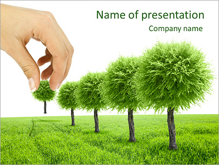 planting trees powerpoint template & backgrounds id 0000004306, Modern powerpoint
