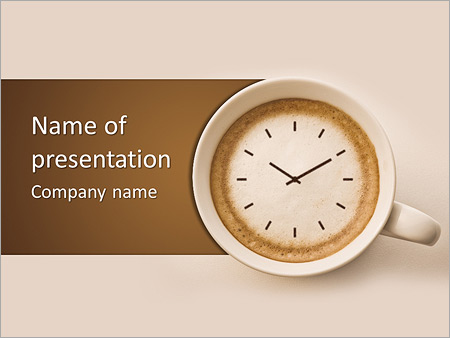 Time for coffee powerpoint template backgrounds id 0000004311 time for coffee powerpoint template toneelgroepblik Gallery
