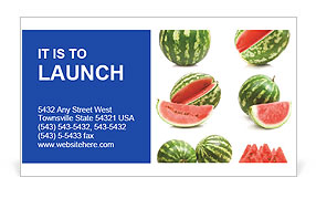 Watermelons Business Card Template