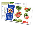 Watermelons Postcard Templates