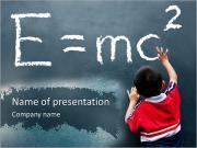 Boy Writes Formula PowerPoint Templates