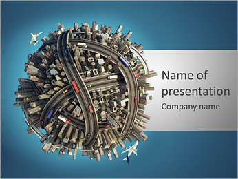 インフラ整備 PowerPointプレゼンテーションのテンプレート