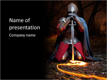 Night With Sward PowerPoint Template