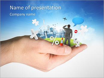 Modern world PowerPoint Template