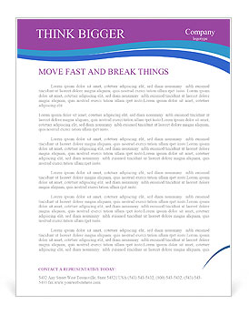 message help in bottle letterhead template design id 0000004322