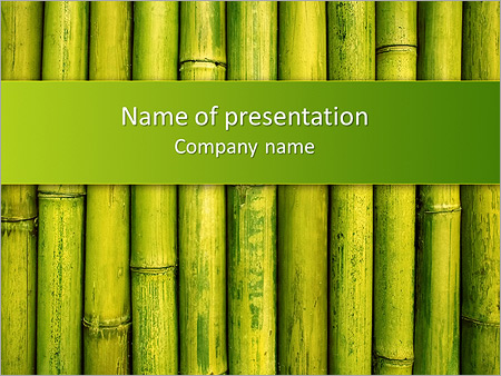 green bamboo powerpoint template backgrounds google slides id