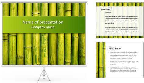 Bamboo Green Modèles des présentations  PowerPoint