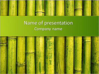 Green Bamboo PowerPoint Template