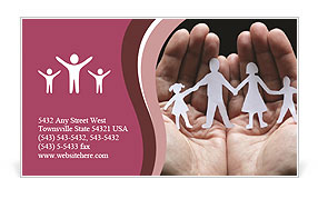 Paper Family Members Business Card Template