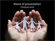 Paper Family Members PowerPoint Templates