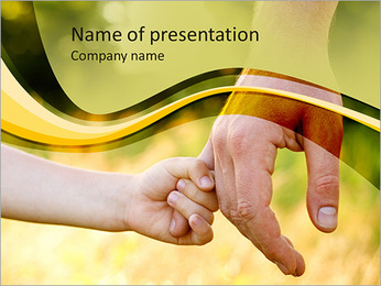 Child Hands PowerPoint Template