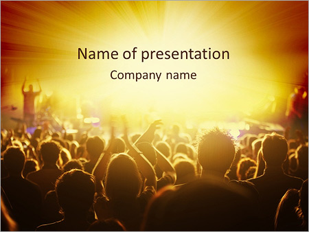 concert crowd powerpoint template backgrounds google slides id