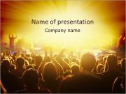 Concert Crowd PowerPoint Templates